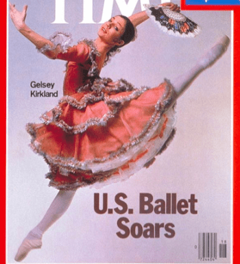"""Gelsey Kirkland as Kitri in """"Don Quixote,"""" on the cover of TIME in 1978."""