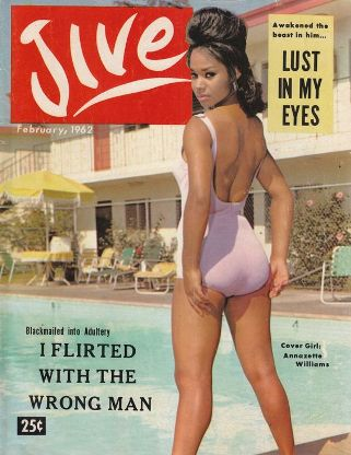 jive magazine, cover girl, annazette, 1960s