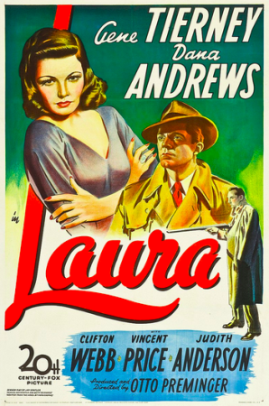 Laura movie poster, 1940s