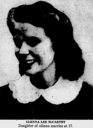 glenna lee mccarthy, glenalee, baby name, 1950s
