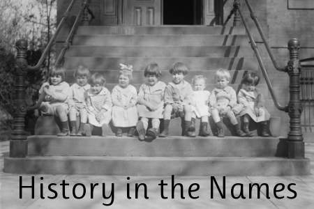 history in the names, timeline, baby names