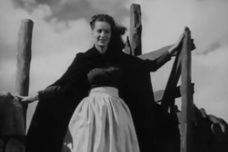 """Angharad (Maureen O'Hara) in the 1941 film """"How Green Was My Valley."""""""