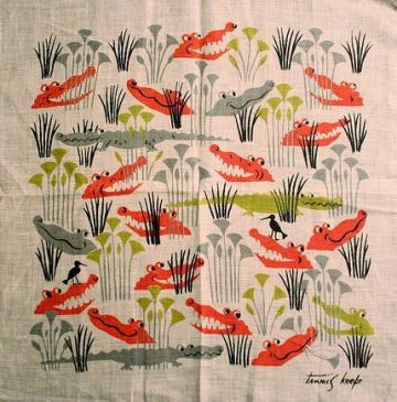 tammis keefe, crocodile handkerchief, 1950s, baby name