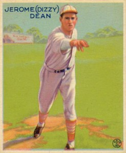baseball card, 1930s, dizzy dean, baby name