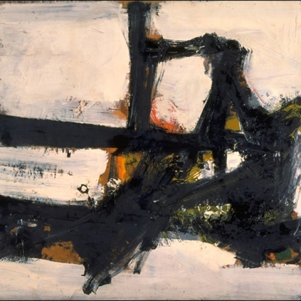 Franz Kline, Orange Outline, 1955