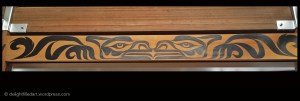 Symmetry: Kwantlen First Nations artwork outside Sxwimele gifts at Fort Langley National Historic Site