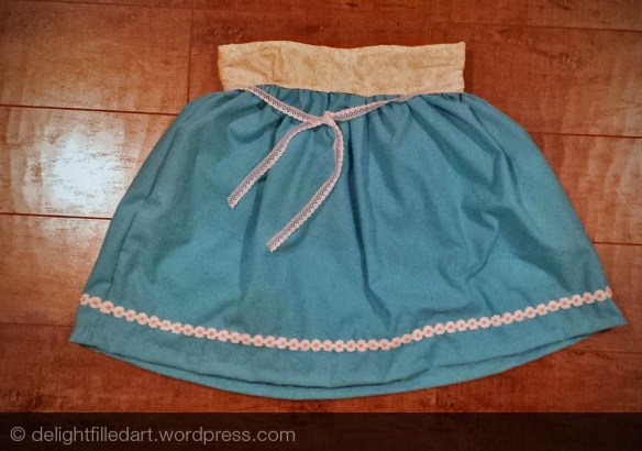 blue rectangle skirt