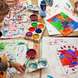 Each child had creative and colourful ideas for his or her painting