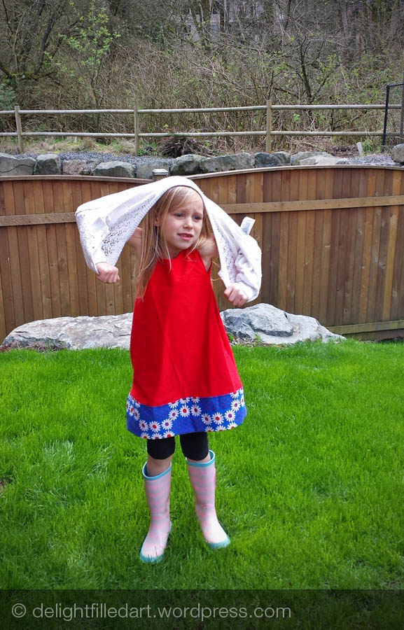 handmade child's dress
