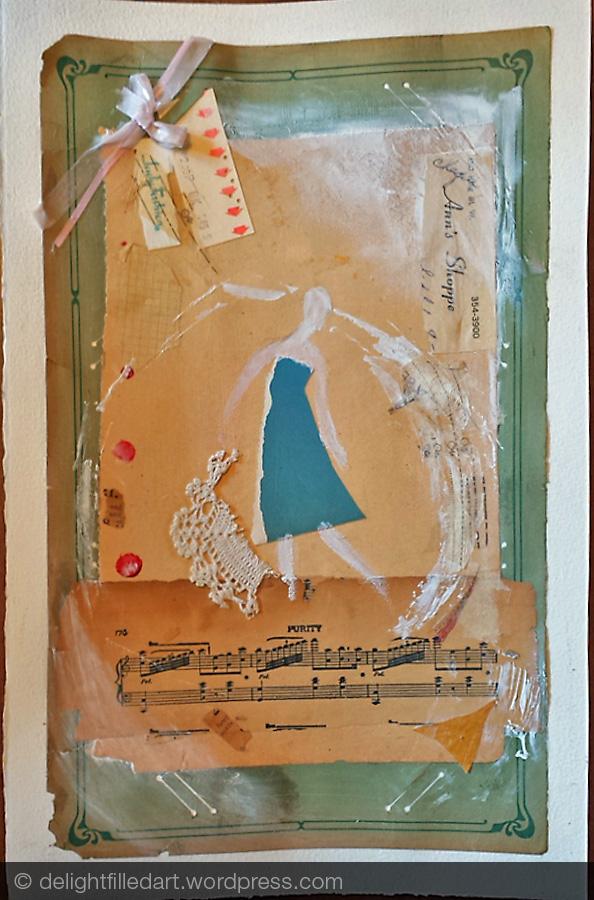 Collage progress & Kids art