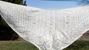 faroese shawl in handspun shetland wool