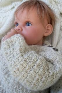 handspun hand knit alpaca baby sweater