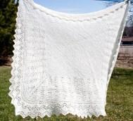 handspun shetland lace shawl