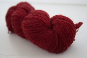 NZ Merino handspun lace Garnet-9706