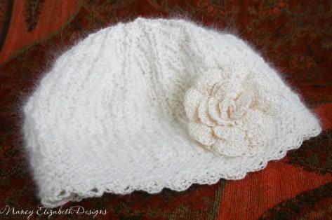 Whisper angora silk hat custom-0364