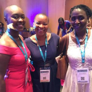 Nancy Kawaya, Patricia Sennequier et Suzanne Badiane