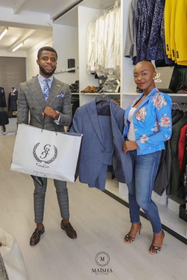 Gideon Boateng and Nancy Kawaya