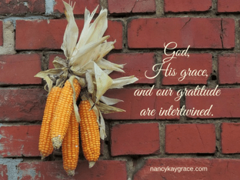 God, grace and gratitude are intertwined.