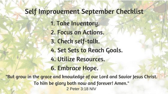 Self Improvement Checklist