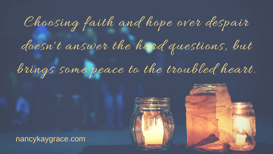 Faith and hope bring peace