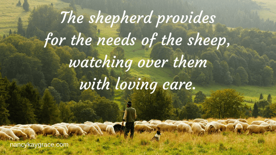 Psalm 23 Shepherd provides for needs