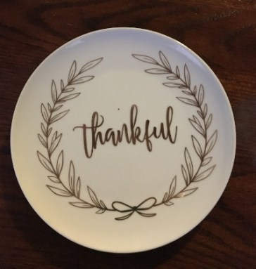 thankful plate surprise