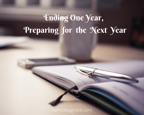Ending one year, preparing the next year