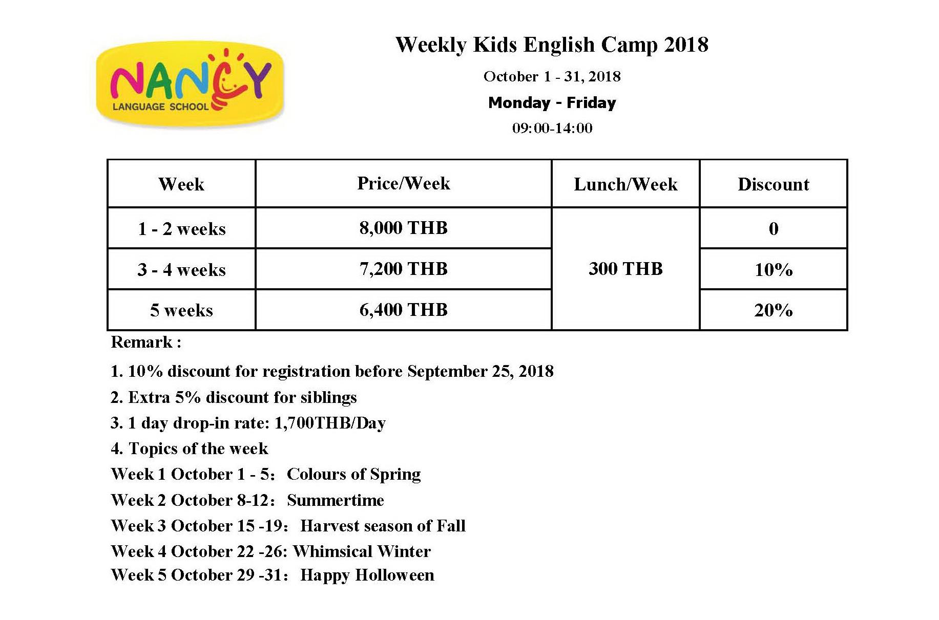 Kids Weekly English Camp Nancy Language Club Promoting