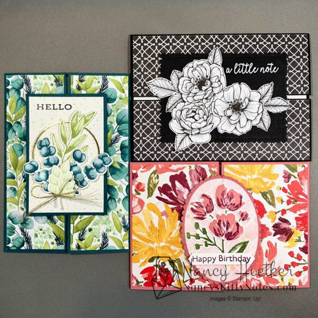 Trio of Slide and Lock Cards