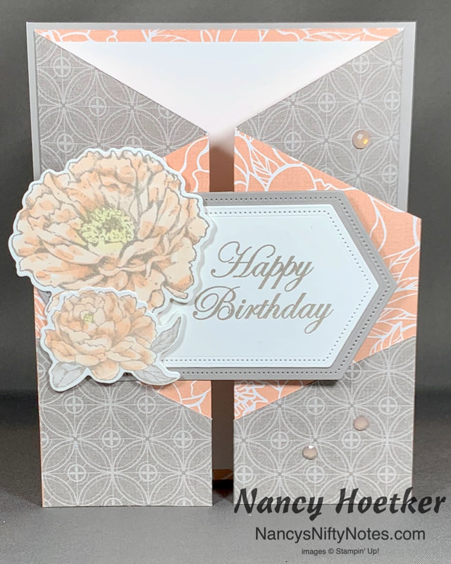 Stampin' Up! Peony Garden Double Gate Fold Card 2