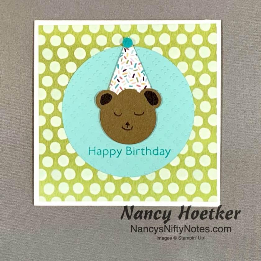 Stampin' Up! Ice Cream Corner Birthday Bear Card