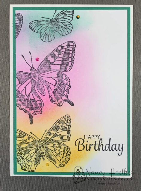 First Play with Butterfly Brilliance by Stampin' Up! 2