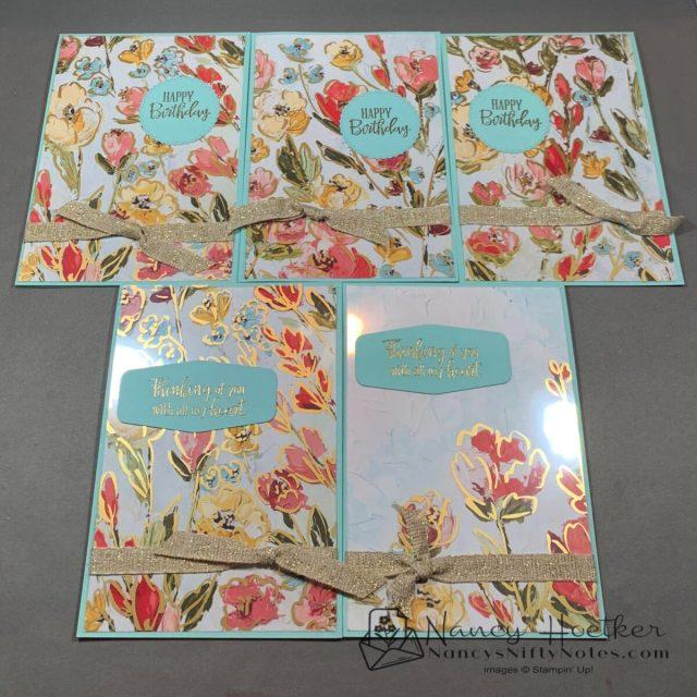 Fine Art Floral and Golden Garden Acetate Cards 5