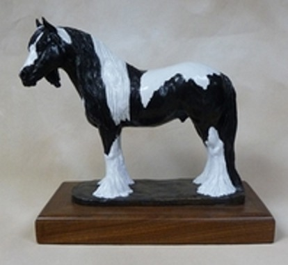 Gypsy Vanner Bronze Sculpture - Nancy Weimer Belden