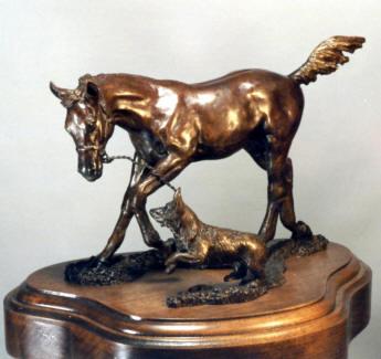 Playmates Bronze Sculpture - Nancy Weimer Belden