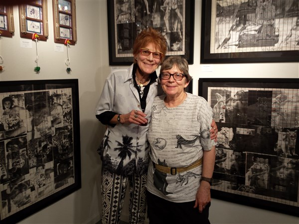 Nancy and Judith at Archangel Gallery