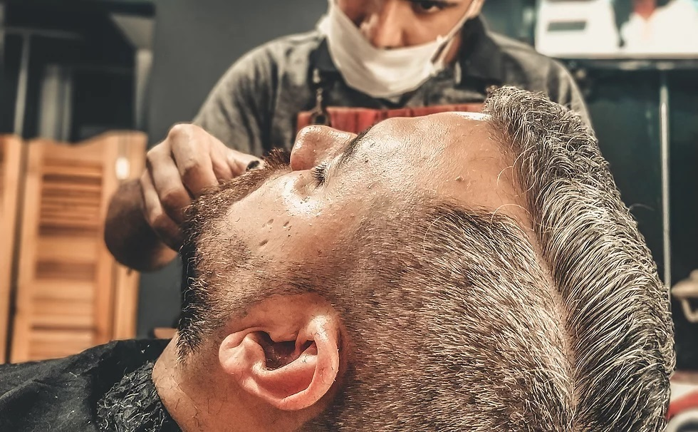 Beard trimming and clean up using a straight razor
