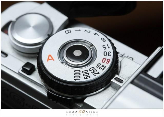 Sluitertijden op een oude analoge camera