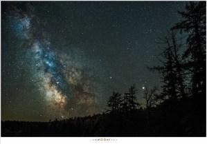 De Melkweg vanuit de tuin van La Fougeraie in de Auvergne