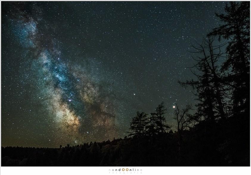 De Melkweg in al haar pracht, gefotografeerd vanuit een bijzonder donkere locatie. Sterrenfotografie zonder ruis
