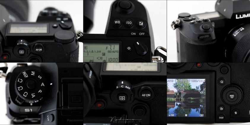 Een goede layout van knoppen in instelwieltjes. Vanwege het formaat van de camera perfect en blindelings bereikbaar.