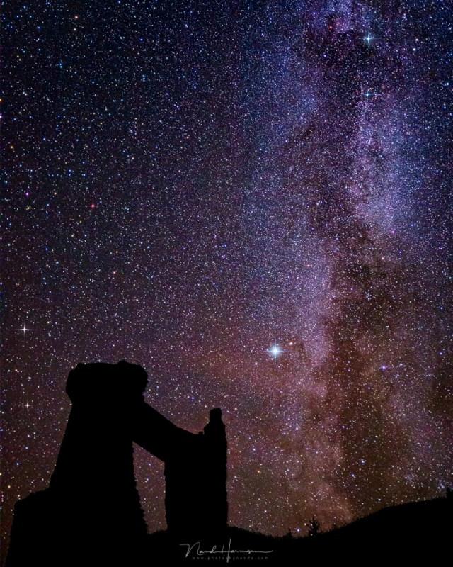 De Melkweg boven La Potence