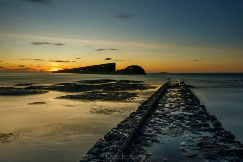 Pointe de la Creche tijdens zonsondergang