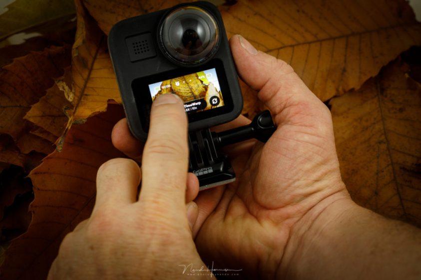 Gebruik van het touchscreen van de GoPro MAX