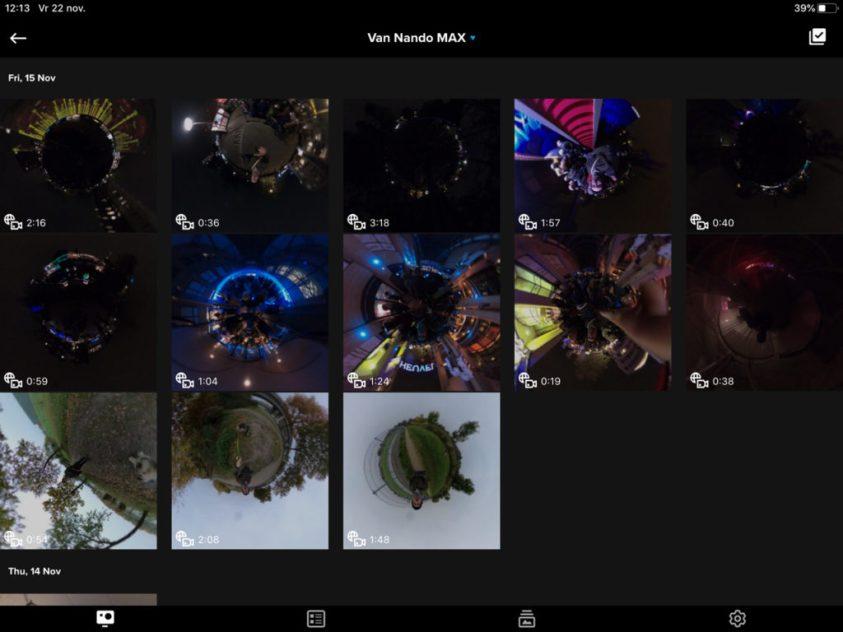 De video's in de GoPro app bibliotheek