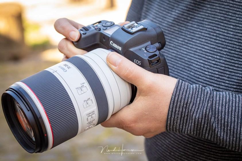 Review van de Canon RF70-200mm - het vasthouden is prettig