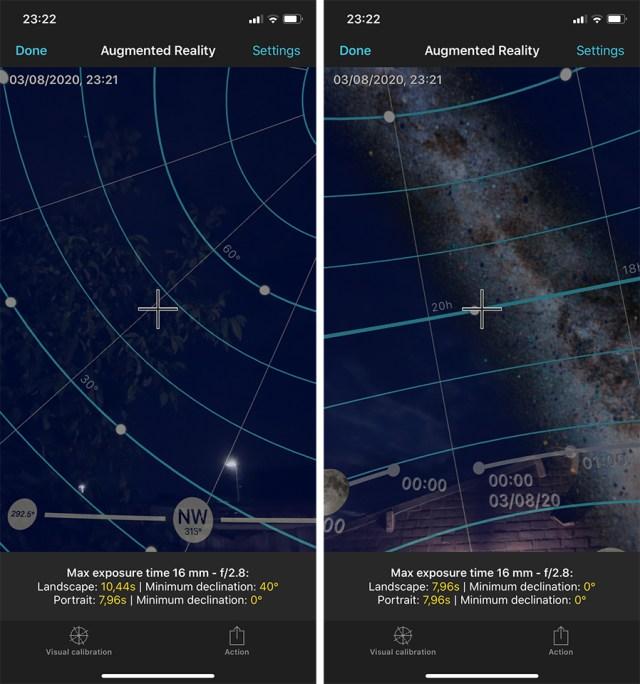 De NPF regel voor betere sterrenfotografie in Photopills