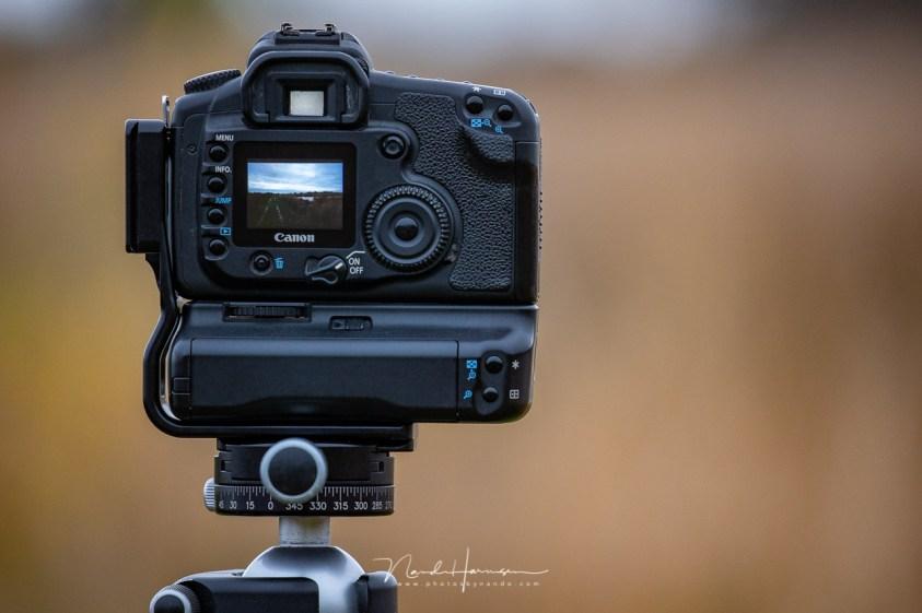 het LCD scherm van de 15 jaar oude Canon EOS 20D