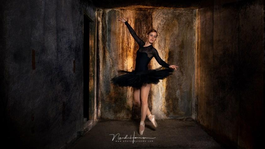 De ballerina in een hokje