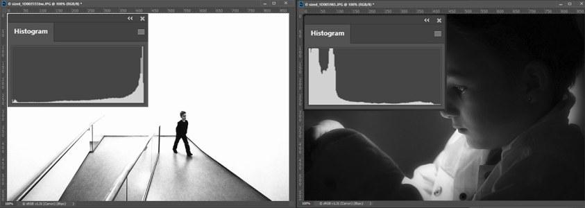 High- en low-key in fotografie en het histogram